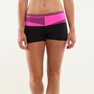 Lyly lemon black & hot pink boogie shorts 4